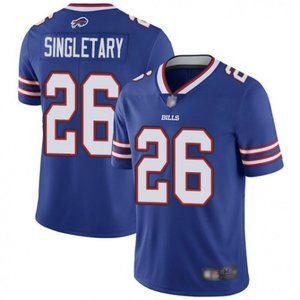 Bills Devin Singletary Blue Jersey
